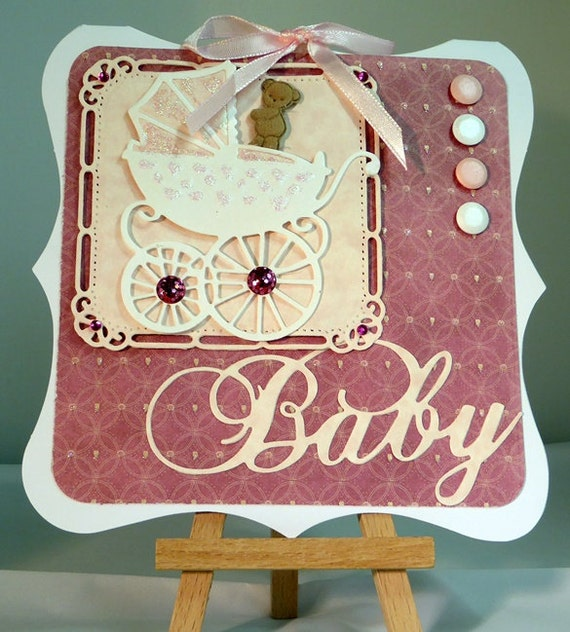 Baby Handmade Card - luxury personalised unique quality special bespoke UK