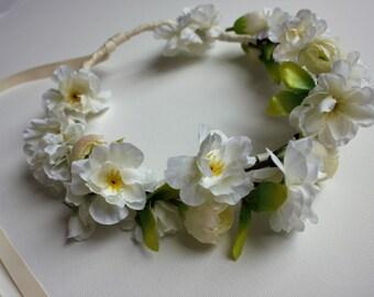 Headband, Flower headband, Wedding headband, crown, bridal crown, bridesmaids headband,bridal headband, wreaths & tiaras