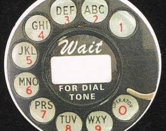 Rotary phone dial gift tags