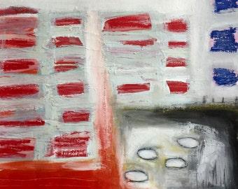 Original Abstract Art on Paper, Mixed Media