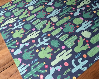 Desert Cactus wrapping / craft paper sheets
