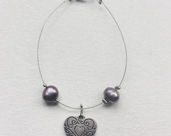 Mounted of fresh water pearls bracelet