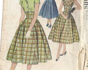 "1954 Vintage Sewing Pattern B30"" DRESS & JACKET/SPENCER (218)  Simplicity 9712"