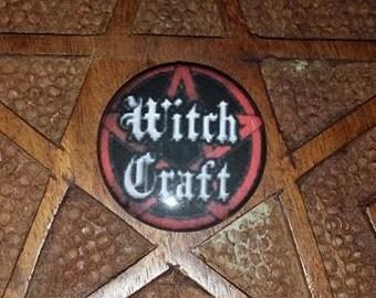 Witchcraft 1 inch pin button  Pentagram