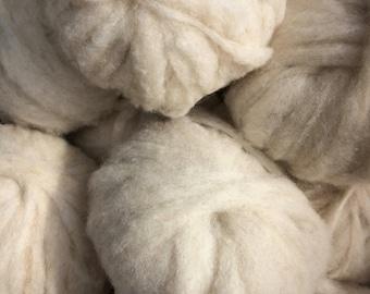 Shetland & Jacob Wool Roving, Natural Colors, 2+ oz.