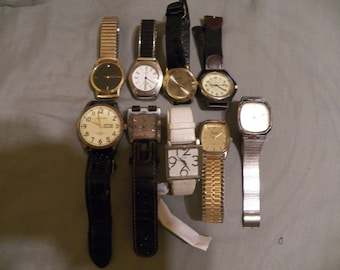 Wrist Watch lot 9 watches