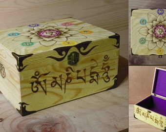 Boxes decorated with pyrography and mixed technique.