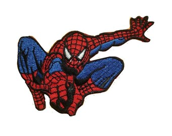 Spider-man Superhero Embroidered iron-on/sew-on patch.