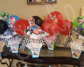 Mario Kart DS Party Centerpieces