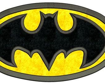 Batman Logo Applique Machine Embroidery Design 3 sizes Instant Download