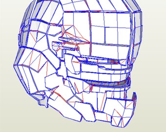 Dead space 2 cosplay helmet replica pattern to build your own for papercraft