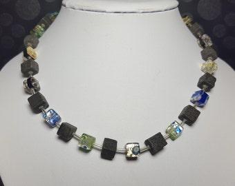 Chain/necklace lava cube necklace