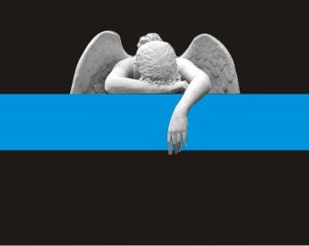 Thin Blue Line Angel Crying Decal / Sticker #198