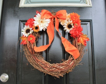 Floral Bow Wreath