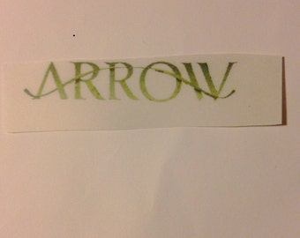 CLEAR Arrow Sticker