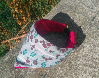Grey Flowers - Made to Order Dog Collar Decoration or Bandana