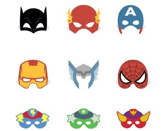Superhero mask printable