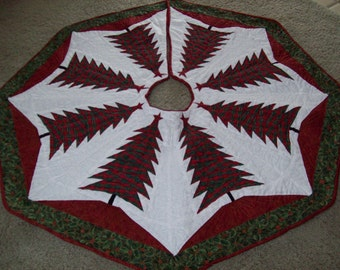 Christmas Tree Skirt #40 Quilted