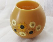 Beeswax flower candles-Spring candles-Beeswax Bowl Candle- Natural wax luminary-Wax lantern