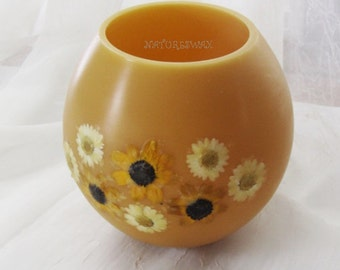 Beeswax flower candles-Spring candles-Beeswax Bowl Candle- Natural wax luminary-Wax lantern-Friendship candles