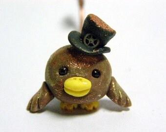 "OOAK Dapper Steampunk Trollfling Troll bird ""AJ"" by Amber Matthies"