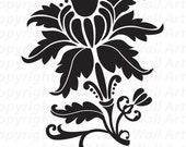 Beautiful Flourish Vinyl Decal Size MEDIUM: Home Decor, Office Decor, Child Decal, Nursery Decor, Bedroom Decal, Artistic Flair