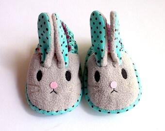 Elastic Baby Booties - Chubby Bunny 12