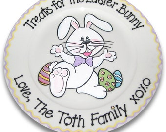Personalized Treats for the Easter Bunny Plate