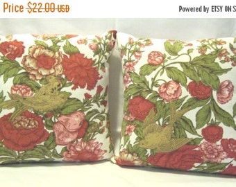 HALF OFF Upcycled Vintage Fabric 12 Inch Pillow Covers