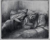 Woman Reading Framed Dryp...