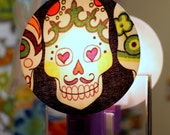 Dia de los Muertos Skulls Nightlight