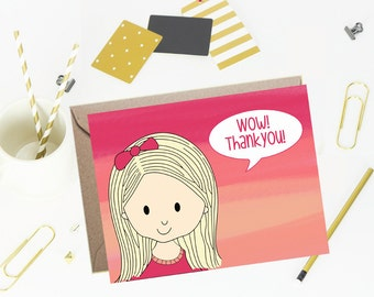 Note cards- Foldover Note Cards for Kids - Children Stationery- Sunset- Set of 10
