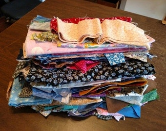 Over 4 Pounds of Fabric Scraps Remnants Cotton