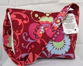 HALF PRICE SALE Medium Tote Red Amy Butler Fabric