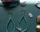 Beaded Bird Earrings | Turquoise Earrings | Turquoise Jewelry