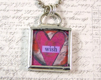 Wish Double Sided Pendant Necklace
