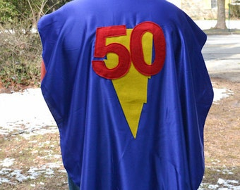 50th Adult Superhero Cape Costume Superhero Capes Custom