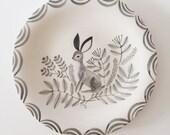 Ceramic Rabbit Dish