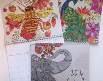 2016 calendar wall calendar - 12 drawings