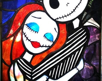 Jack and Sally - Stained Glass