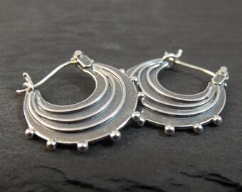 Earrings - Small Raindrop Hoops - Handmade in Seattle