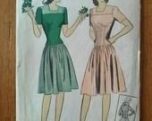 Vintage 1940s Pattern Dress Du Barry 5614 B34 2015374