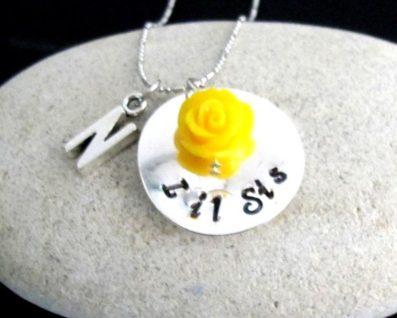 Lil Sis Big Sis Necklace , Sister necklaces for twins, Daughter Necklace, Little Girl Jewelry, Name Child's Necklace Free Shipping In USA