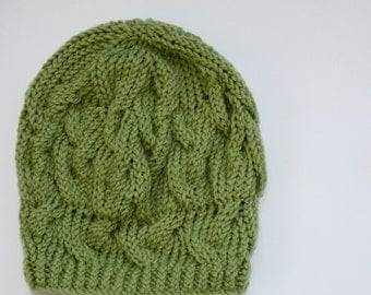 The Slouchy Hat. Available in Black, Chocolate Brown or Moss Green