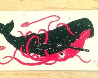 Squid & Whale Screenprint