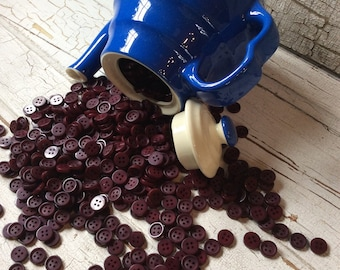 "Cranberry buttons 1/2"" set of 40"