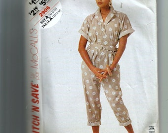 McCall's Misses' Jumpsuit and Belt Pattern 2906