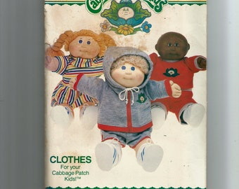 Butterick Cabbage Patch Kids Clothes Pattern 332