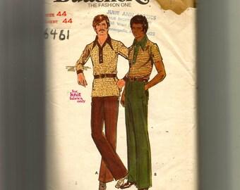 Butterick Men's Shirt and Pants Pattern 6461