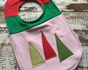 30% OFF SUPER SALE- Christmas Tree Bib-Wee Ones Bib-Tshirt Collection-Toddler Size-Modern Christmas